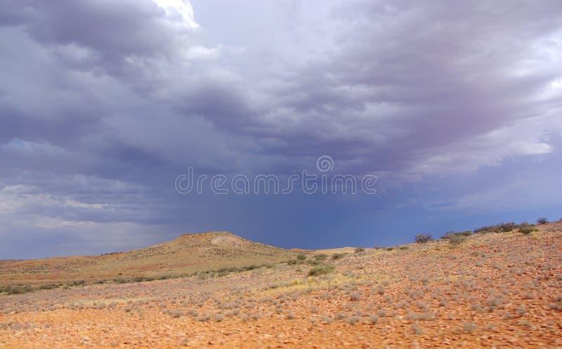 Deserto tormentoso de Simpson imagens de stock