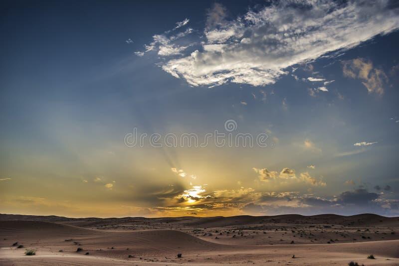 Deserto Wahiba Oman di tramonto immagini stock libere da diritti