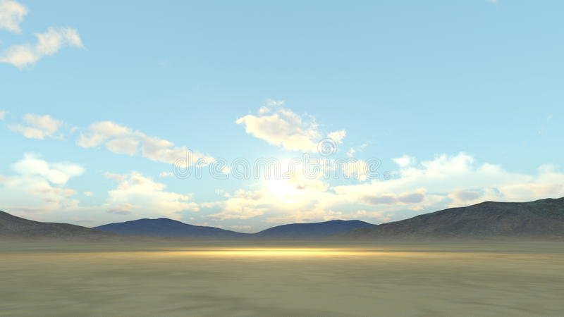 Deserts. 3D CG rendering of the deserts royalty free illustration