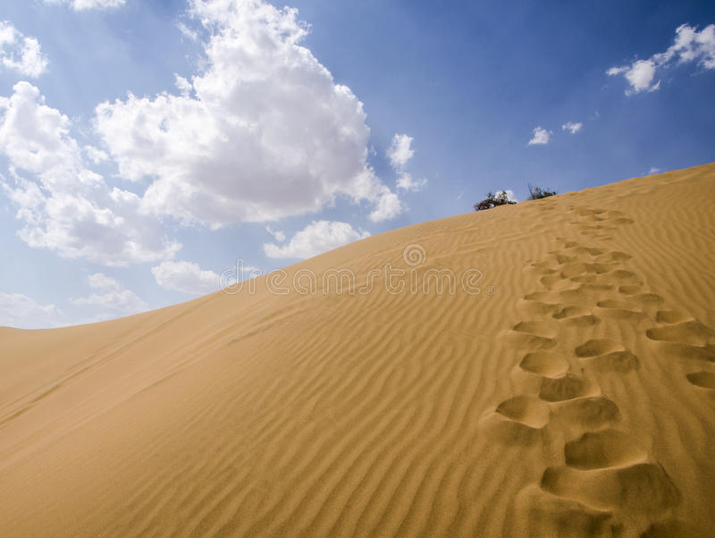 Deserts and Sky royalty free stock photography
