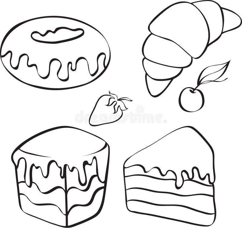 desery herbaciani ilustracji