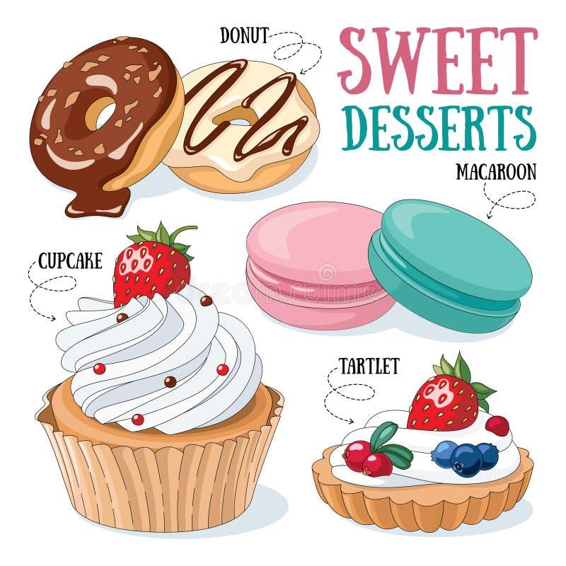 desery słodcy royalty ilustracja