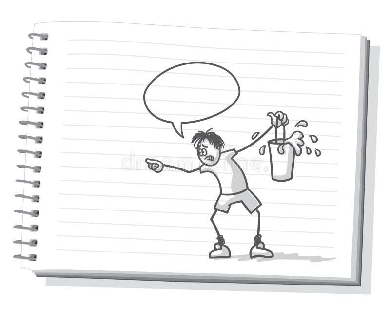 desespero ilustração stock