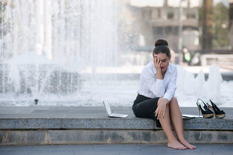 Desespero da crise da falência da falha de negócio imagem de stock royalty free