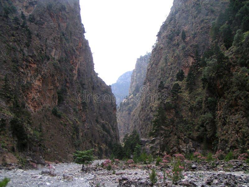 Desfiladeiro Crete de Samaria fotografia de stock