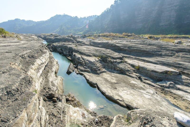 Desfiladeiro de Daan River, Taichung, Taiwan fotos de stock royalty free