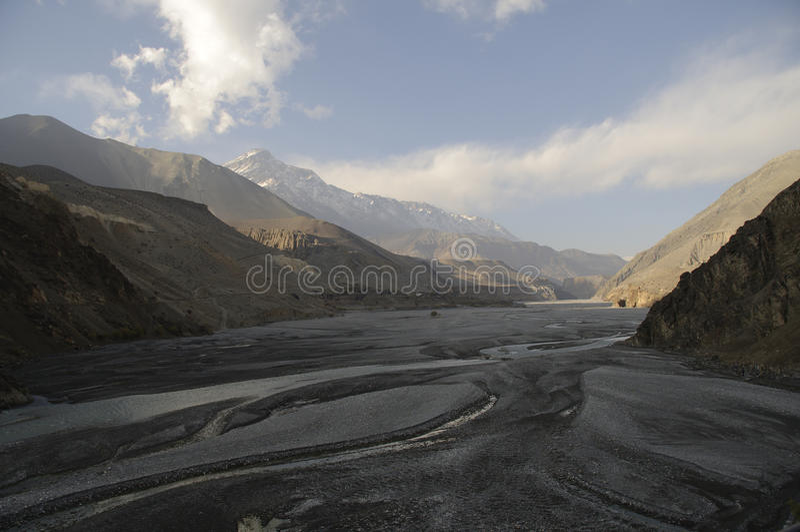 Desfiladeiro de Kali-Gandaki, mustang fotografia de stock