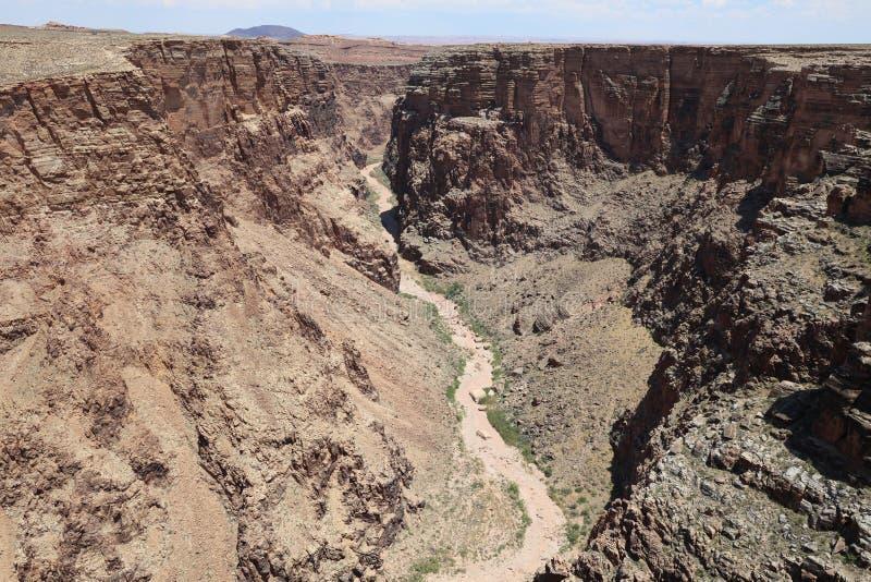 Desfiladeiro de Little Colorado River no Arizona fotos de stock royalty free
