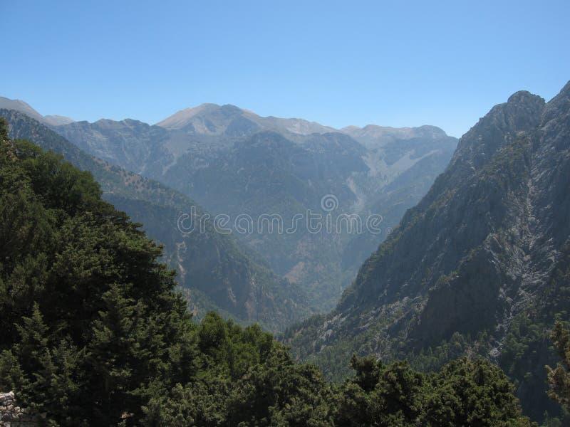 Desfiladeiro de Samaria fotografia de stock
