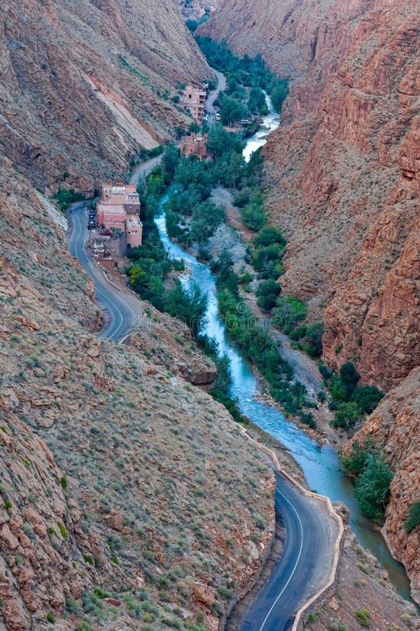 Desfiladeiro de Todra, Marrocos imagens de stock royalty free