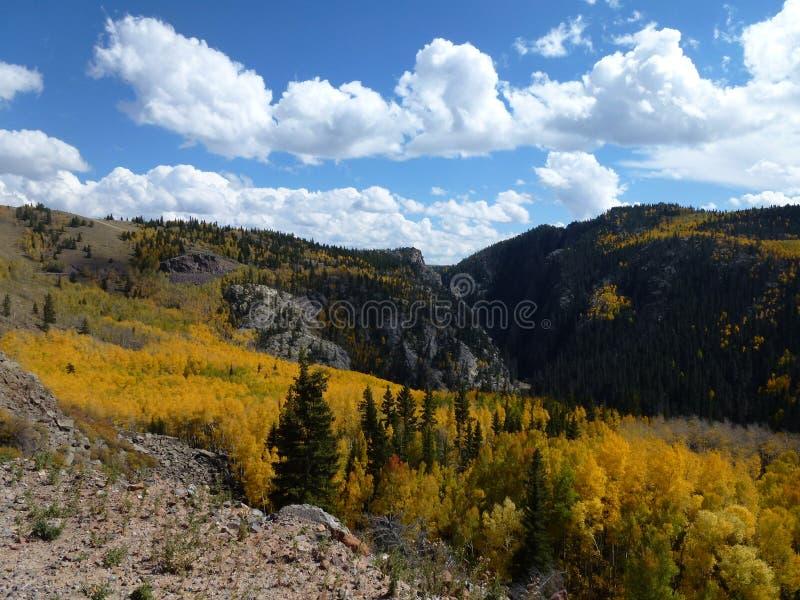 Desfiladeiro de Toltec na beira de Colorado e de New mexico fotografia de stock