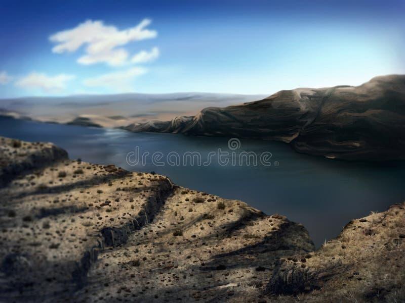 Desfiladeiro do rio de Washington - pintura de Digitas fotos de stock royalty free