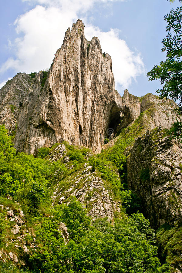 Desfiladeiros de Turda, agulha do cabo foto de stock royalty free