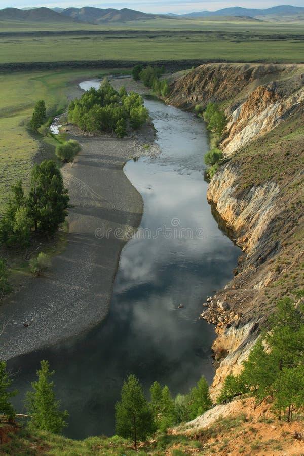 Desfiladeiros do rio de Orkhon fotografia de stock royalty free