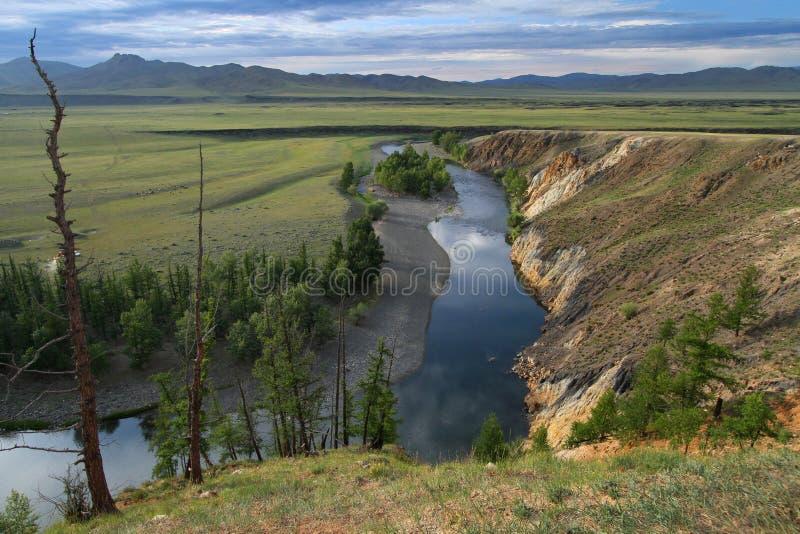 Desfiladeiros do rio de Orkhon (vista hoizontal) imagens de stock royalty free