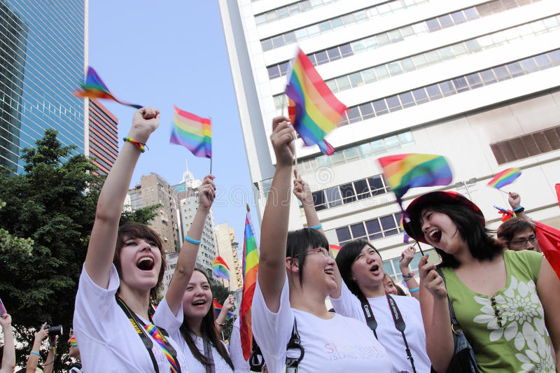 Desfile 2009 del orgullo de Hong-Kong imagenes de archivo