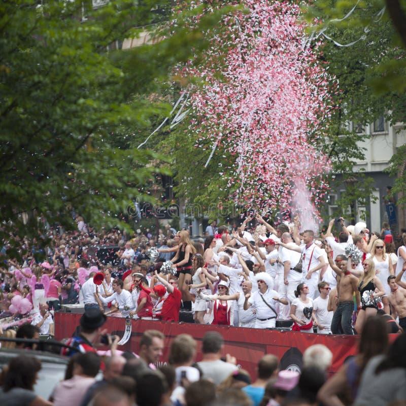 Desfile 2011 del canal de Amsterdam imagenes de archivo