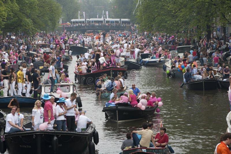 Desfile 2011 del canal de Amsterdam imagen de archivo libre de regalías