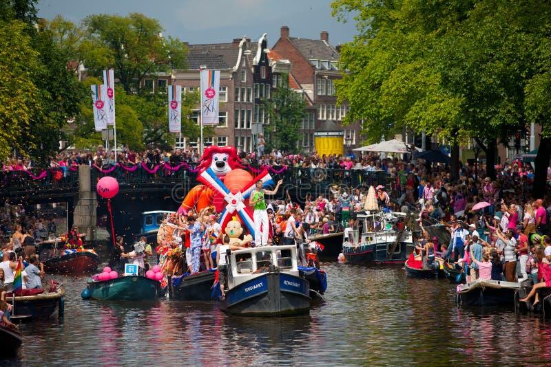Desfile 2012 del canal de Amsterdam foto de archivo libre de regalías