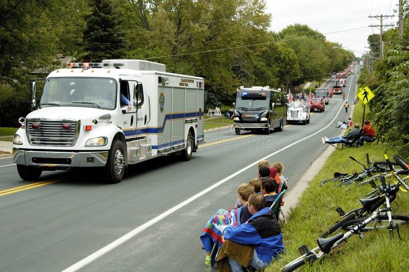 Desfile 5 del coche de bomberos fotos de archivo libres de regalías