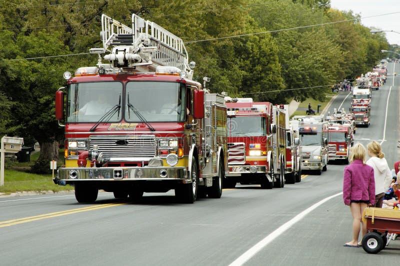 Desfile 8 del coche de bomberos imagen de archivo libre de regalías
