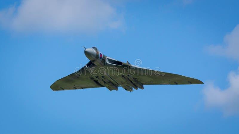 Desfile aéreo do bombardeiro de Avro Vulcan fotos de stock royalty free