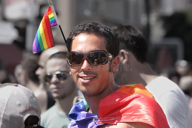 Desfile alegre anual del orgullo en Tel Aviv, Israel. imagenes de archivo