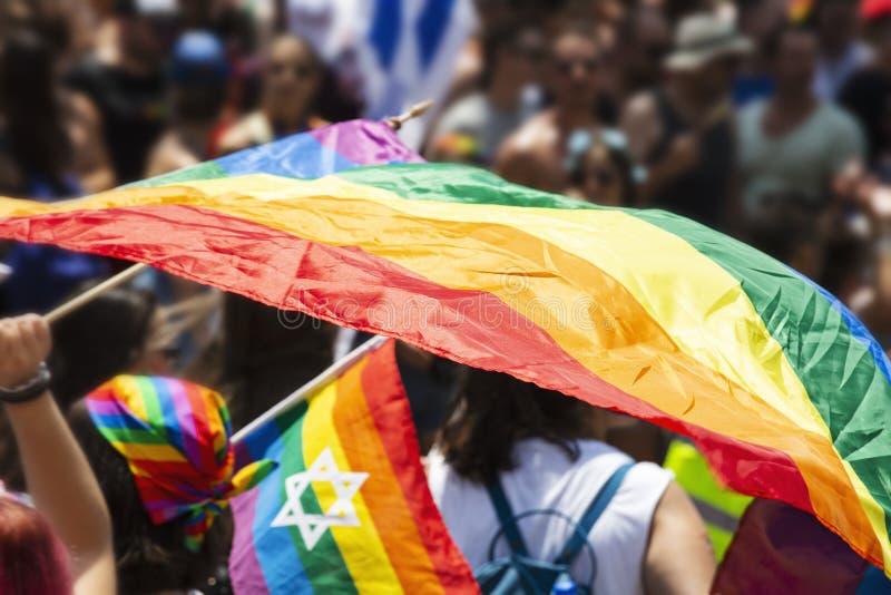 Desfile alegre del orgullo en Tel Aviv, Israel fotos de archivo libres de regalías