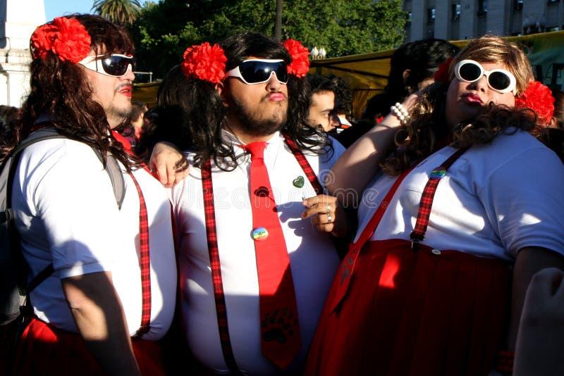 Desfile alegre en Buenos Aires fotografía de archivo