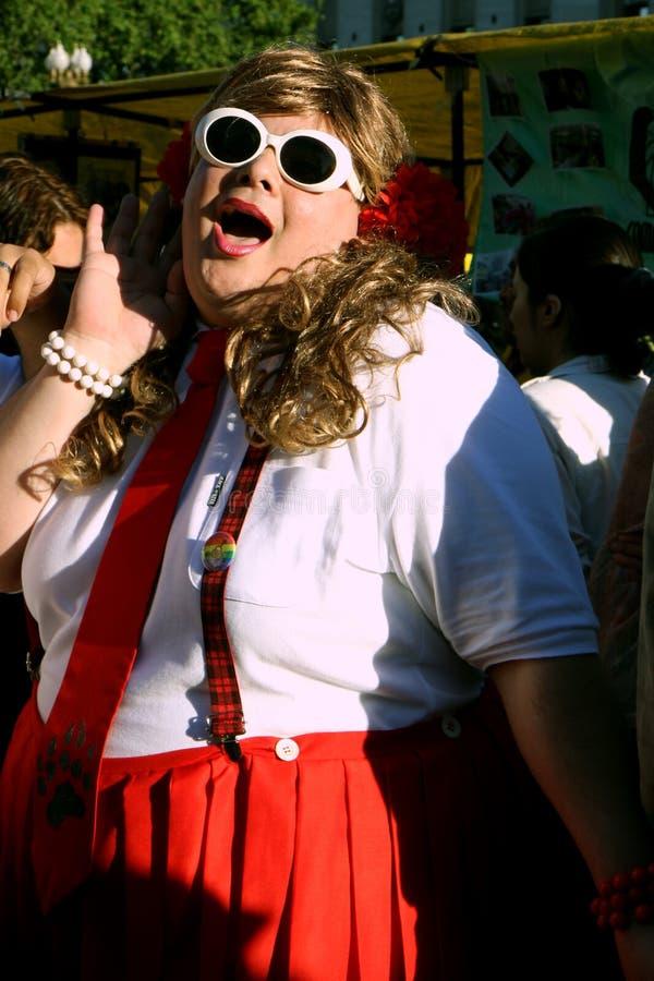 Desfile alegre en Buenos Aires foto de archivo