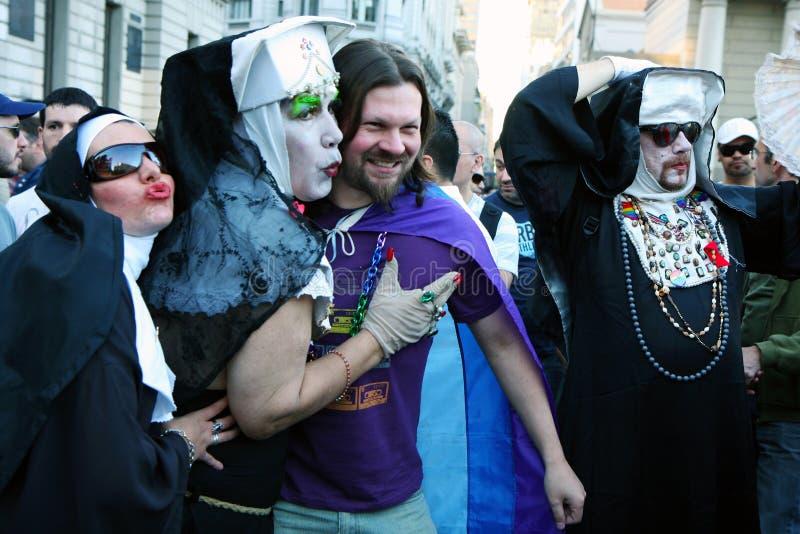 Desfile alegre en Buenos Aires foto de archivo libre de regalías