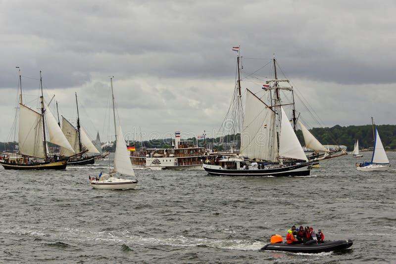 Desfile alto de la nave en el Kieler Woche 2018, Kiel, Alemania fotos de archivo libres de regalías
