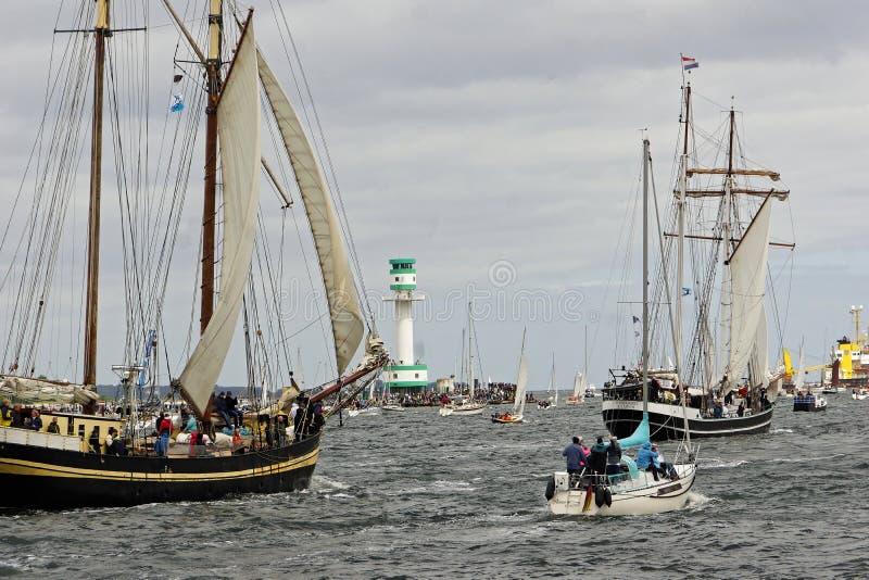 Desfile alto de la nave en el Kieler Woche 2018, Kiel, Alemania fotografía de archivo libre de regalías