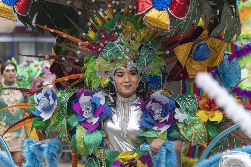 Desfile carnaval 2019 del verano de Rotterdam foto de archivo
