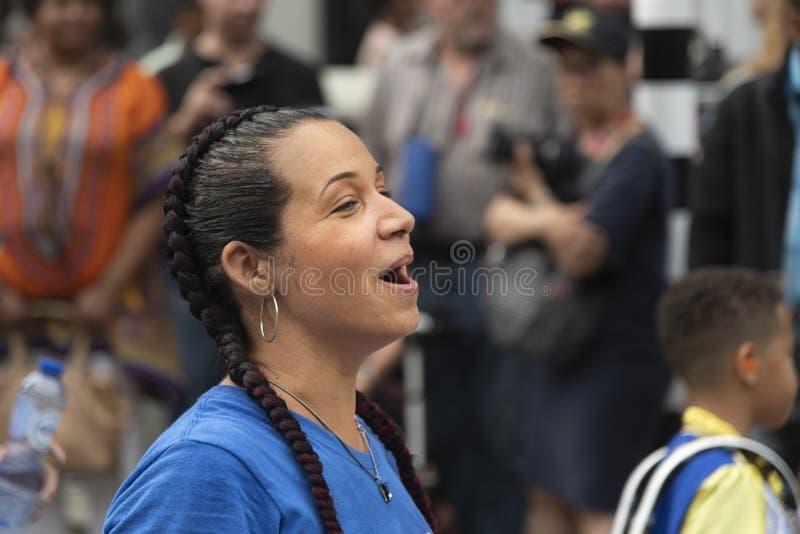 Desfile carnaval 2019 del verano de Rotterdam imagenes de archivo