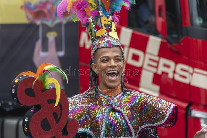 Desfile carnaval 2019 del verano de Rotterdam fotos de archivo libres de regalías