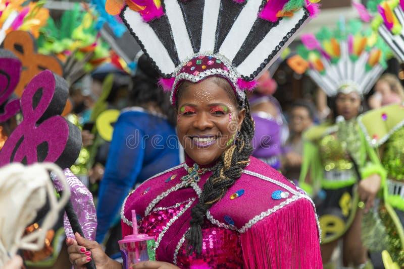 Desfile carnaval 2019 del verano de Rotterdam fotografía de archivo