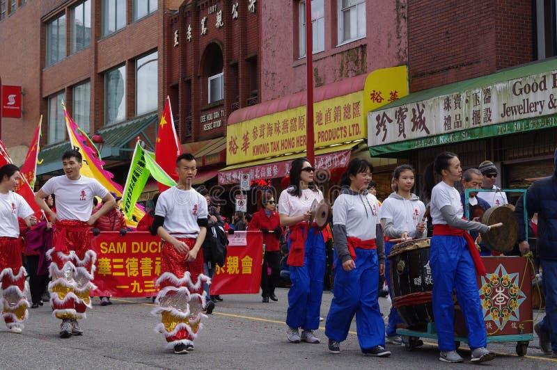 Desfile chino del Año Nuevo de Vancouver's imagenes de archivo