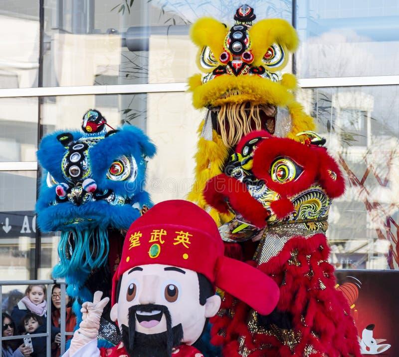 Desfile chino del Año Nuevo - el año del perro, 2018 imágenes de archivo libres de regalías