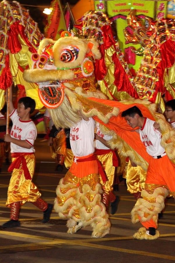 DESFILE CHINO INTERNACIONAL 2009 DE LA NOCHE DEL AÑO NUEVO foto de archivo libre de regalías