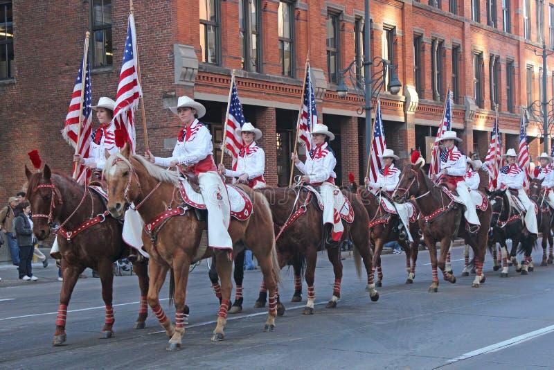 Desfile común occidental nacional de la demostración fotografía de archivo