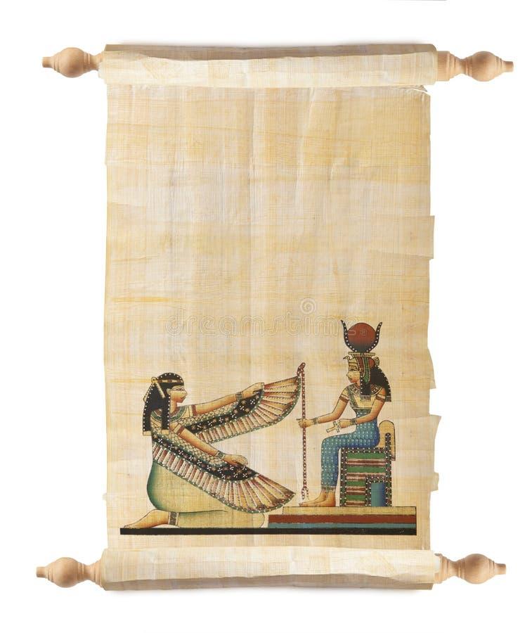 Desfile con el papiro egipcio foto de archivo