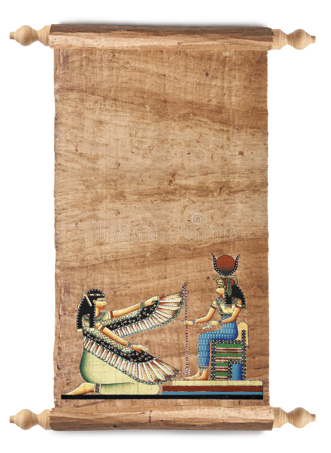 Desfile con el papiro egipcio foto de archivo libre de regalías