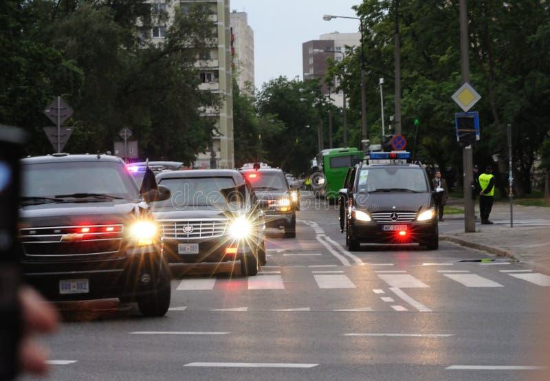 Desfile de automóviles presidencial fotografía de archivo