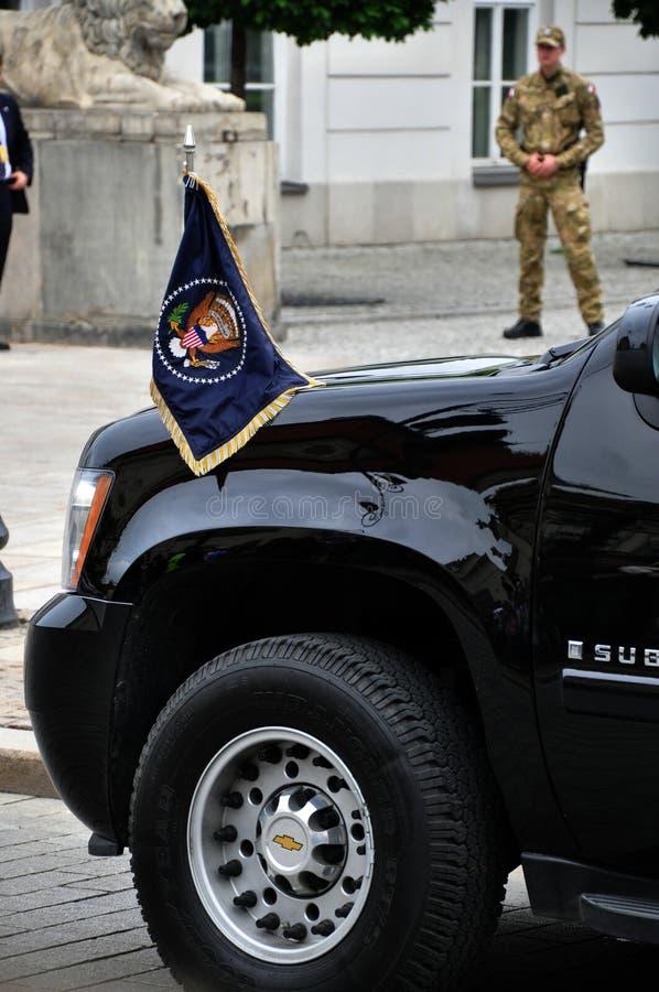 Desfile de automóviles presidencial que transporta al presidente de los E.E.U.U. fotos de archivo libres de regalías
