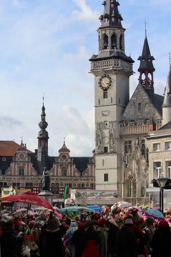 Desfile de carnaval único, Aalst, Bélgica imagen de archivo libre de regalías