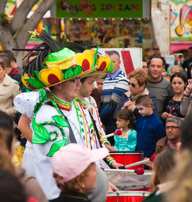 Desfile de carnaval de SANTA CRUZ, ESPAÑA 2013 fotos de archivo libres de regalías