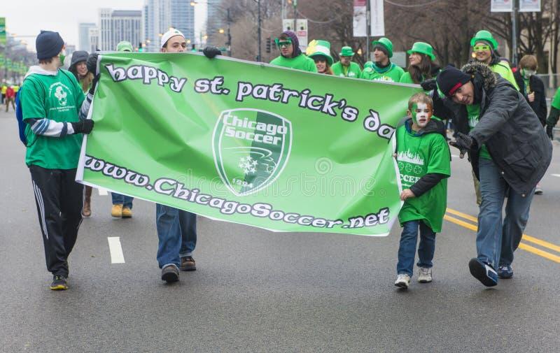 Desfile de Chicago St Patrick imágenes de archivo libres de regalías