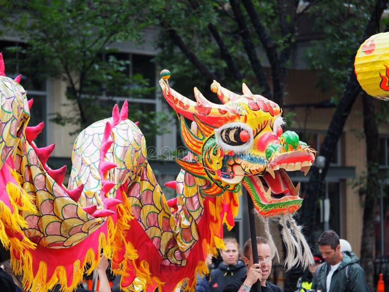 Desfile de Dragon In KDays del chino imágenes de archivo libres de regalías