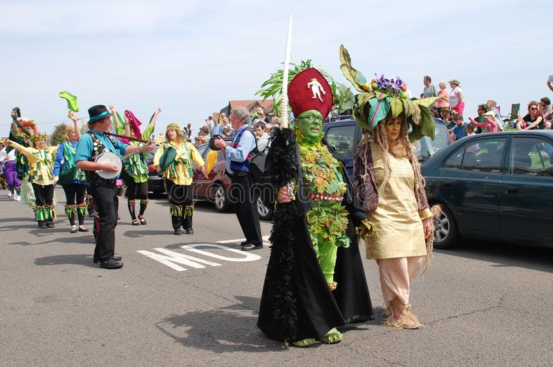 Desfile de Jack In The Green, Hastings fotos de archivo